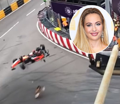 17-Year-Old F3 Driver Sophia Floersch Crashes Into Track Fence @ Race In China 😱😱😱
