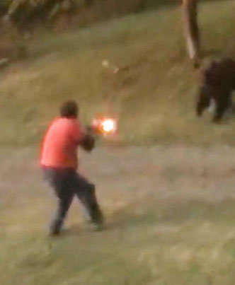 Grizzly Bear Takes Shotgun Blast To The Face And Keeps Charging 🐻💥🔴👑