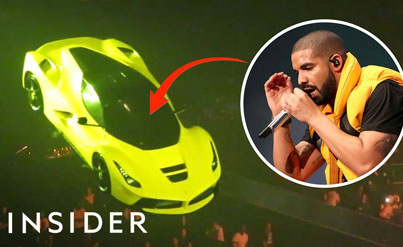 How Drake's Team Made His Ferrari Fly On Tour 😂🔥🔴👑