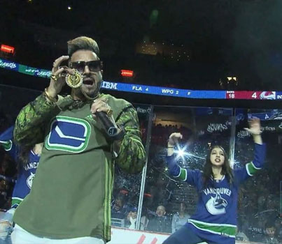 We Made It Fomly 🙌🏼🔥 Jazzy B Performs For Canucks Fans On Diwali Night 🐐🐐🐐🔴👑