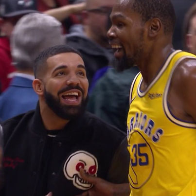 Kevin Durant Gives Drake A 'Titty Twister' 😭😭😭🔴👑