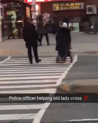 Not All Cops Are Pigs 👮🐷 Sauga Cop Helps An Old Lady Cross The Street 🔥🙌🔴👑