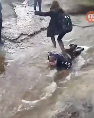 Waste Yutes Use Boy With Cerebral Palsy As A Human Bridge To Cross Muddy Creek 😤😤😤🔴👑
