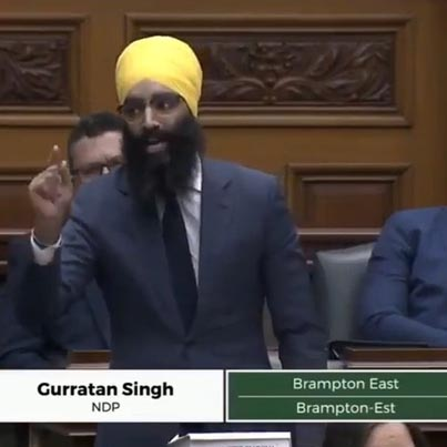 Gurratan Singh Speaks Against A Government Report Stating Sikhs As Terrorists ⚖️🇨🇦🔴👑