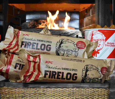 KFC Really Came Out With Fire Logs That Smell Like A Bucket Of Fried Chicken 😳😳🍗🔴👑