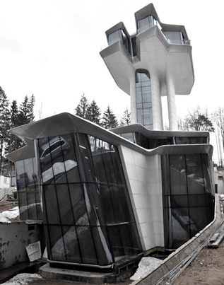 Zaha Hadid's Only House Finally Completes In Russian Forest 👏👏👏