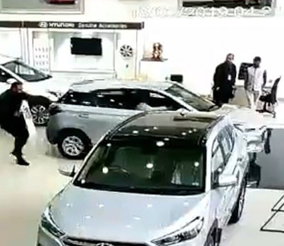 Indian Ting Crashes Through Dealership Window While Testing New Car 🔥😂🔴👑