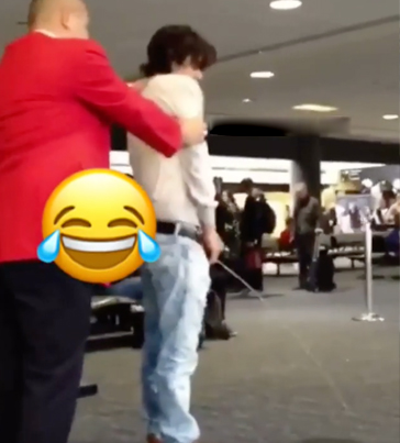 Man Was So Wasted At The Airport He Took A Piss (NSFW) 😂😂😂🔴👑