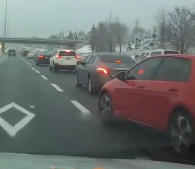 Eediat Ting 💀😭 Sauga Driver Fails To Check Blind Spot On Hwy. 403/QEW 😒😒😒