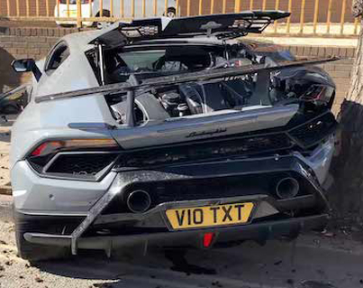 Lamborghini Huracan Performante Crashes While Leaving Car Meet 😭💀🔴👑