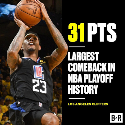 LA Clippers Pull Off the Largest Comeback In NBA Playoffs History 😱💯🔥🔴👑