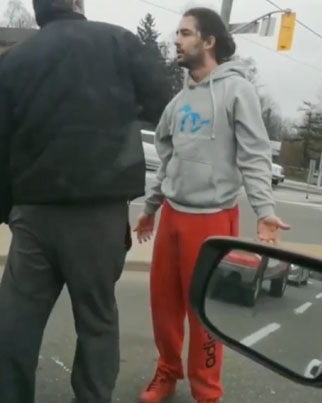 Mod Road Rage Incident Old Head Tried To Jam His Wallet So He Could Get His ID 😂🇨🇦