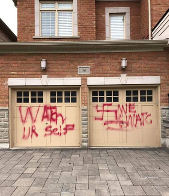 Racist Buckets Spray Paint The Home Of A Jewish Family In Thornhill 😒💔🔴👑