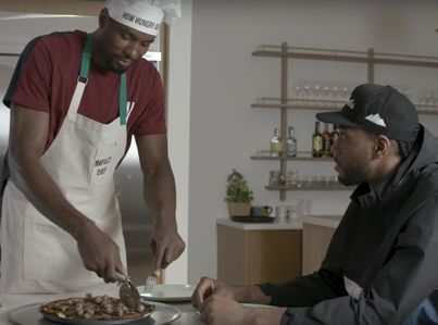 Serge Ibaka Makes Kawhi Leonard Eat A Bull's Ding Dong On His Cooking Show 😂😂😂