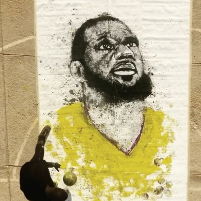 Talented Yute Paints LeBron James With A Basketball 🏀🔥