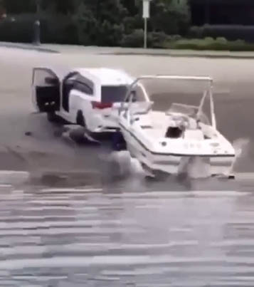 B.C. Man Excited To Drive His Boat Nearly Bodies Himself 😳🌊💀🚐🔴👑