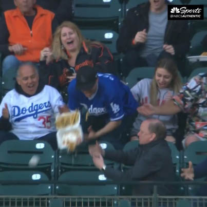 Dodgers Fan Sacrifices Two Expensive Dinners For Foul Balls 😂😂😂🔴👑