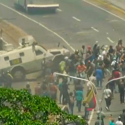 Military Truck Runs Over Protesters In Venezuela 😓🙏🇻🇪