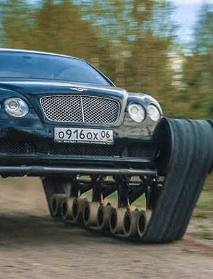 Russian Savages Put Tank Treads On A Bentley 👊😎🇷🇺