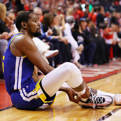 Kevin Durant Suffers Achilles Injury During Game 5 Of NBA Finals 🙏🙏🙏🔴👑