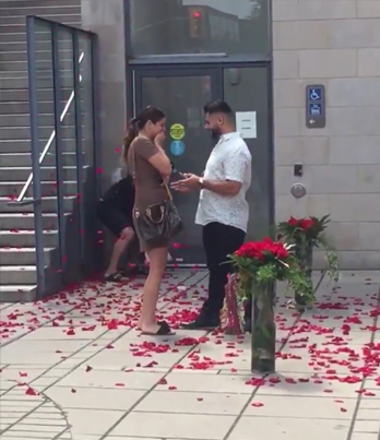 Ottawa Man Chucking Petals During Proposal Is Truly Best Friend Goals 😂🌺💍🔴👑