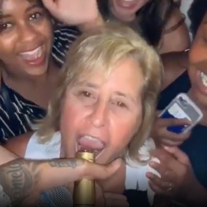Somebody Mama Turnin Up At A Blueface Concert 👀😂🔴👑