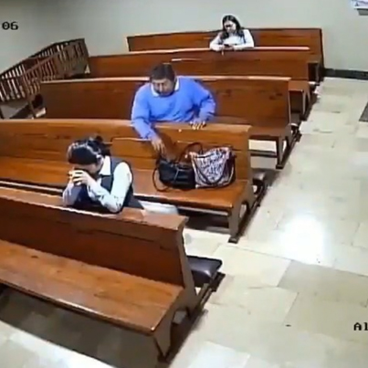 Wasteman Steals A Woman's Wallet While She's Praying In Church 😩💀